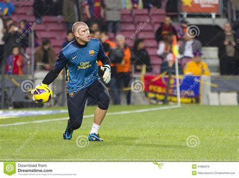 barcelona last match victor valdes fcb editorial stock image image 51895979