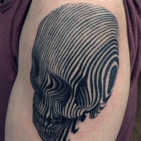 tattoo 3d lines 75 line tattoos for men minimal designs with bold statements