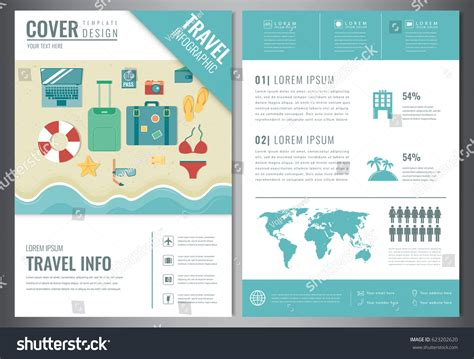 travel brochure design template travel tourism stock