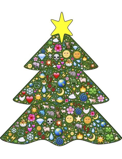 emoji xmas tree christmas tree green emoji 183 free image on pixabay