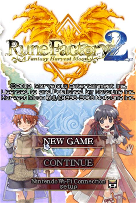 emuparadise rune factory 3 rune factory 2 a fantasy harvest moon u xenophobia rom