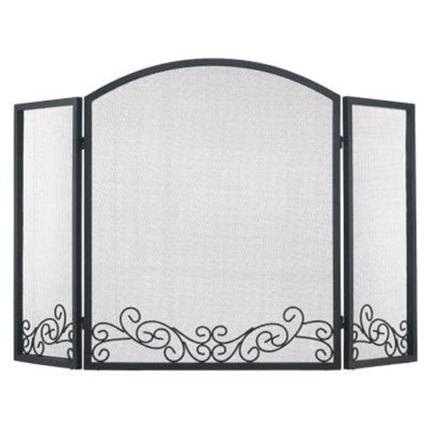 pleasant hearth ashburn 3 panel fireplace screen fa056s