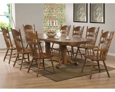 coaster dining set w oval trestle table co 104271set