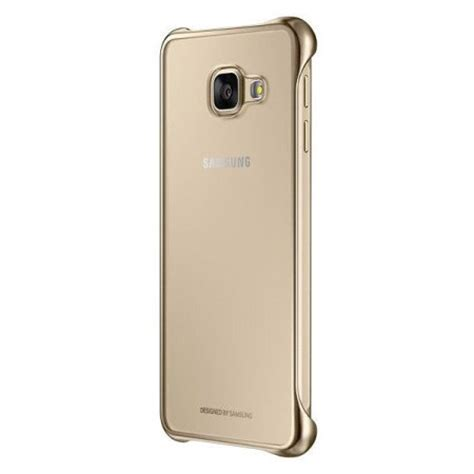 official samsung galaxy a3 2016 clear cover case gold