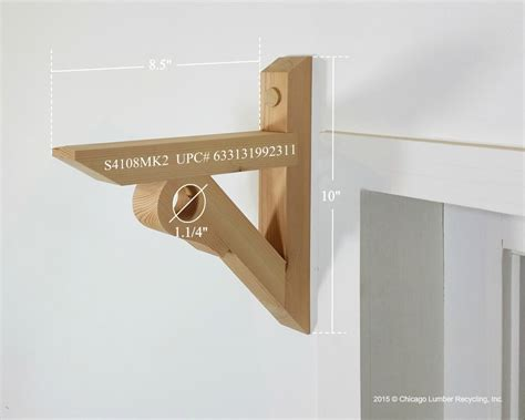 shelf with curtain rod shelf bracket support with curtain drapery rod holder