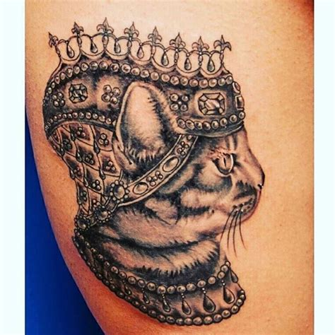 cat king tattoo more than 50 crown tattoos for your royal inking dreams
