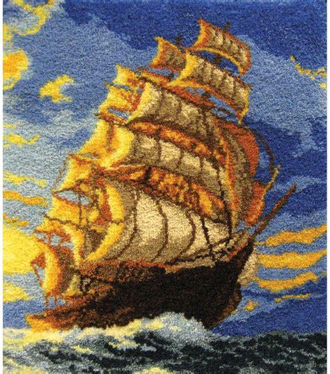 latch hook kit 35 1 4 quot x40 1 2 quot clipper ship jo