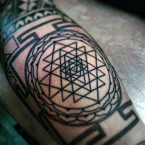 tattoo chest triangle 90 triangle tattoo designs for men manly ink ideas