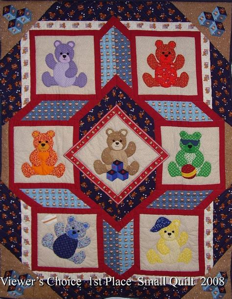 teddy quilt quilts baby