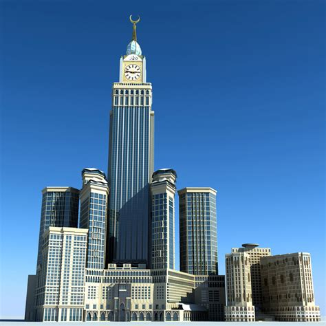 al bait abraj al bait towers 3d model