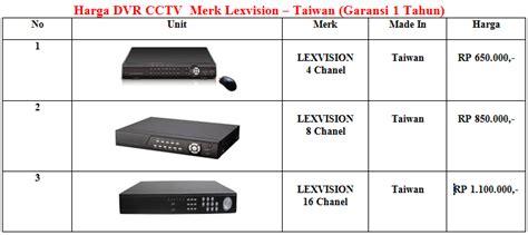 Cctv Harco Mangga Dua list harga cctv distributor cctv avtech jakarta dan bekasi