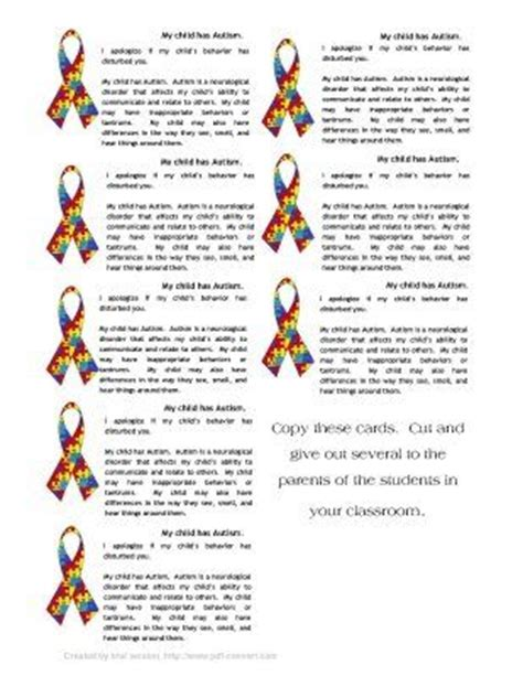 autism id card template 7 best images of printable autism brochures autism