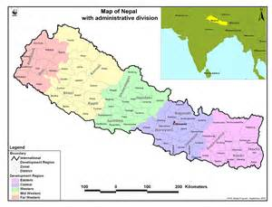 Nepal Location Map by Nepal Map Kavre