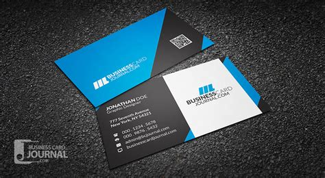 professional name card template free modern professional business card template
