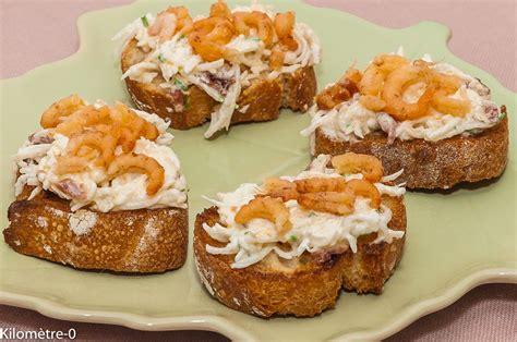 recette canap駸 canap 233 s de radis noir aux crevettes grises kilometre 0 fr