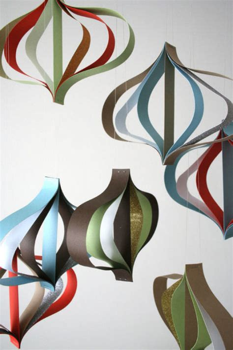 Make Paper Ornament - modern paper ornaments design sponge