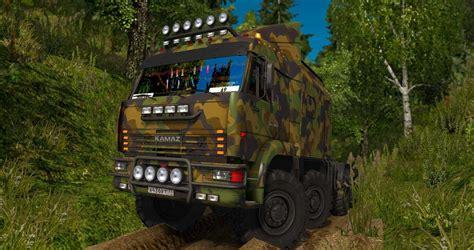 sim game mod euro truck simulator 2 kamaz 43 63 65 offroad 1 27 x truck ets2 mod
