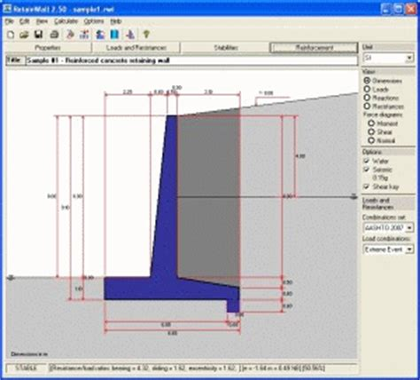 free retaining wall design software | design ideas