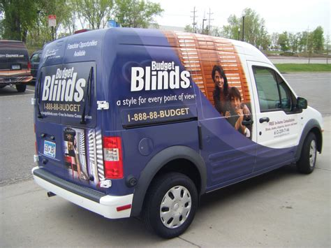 Budget Blinds Mn Vans Transits Sprinters Promasters Wrap City Graphics