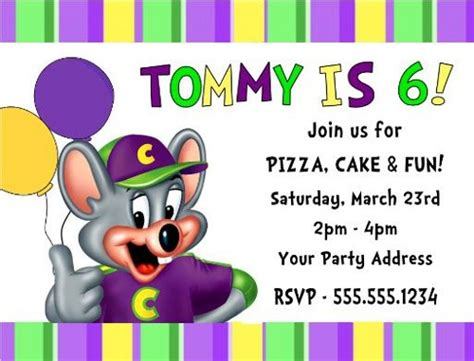 printable birthday invitations chuck e cheese chuck e cheese birthday party invitations personalized