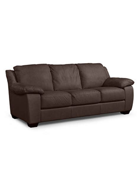 Blair Leather Sofa Blair Leather Sofa Furniture Macy S