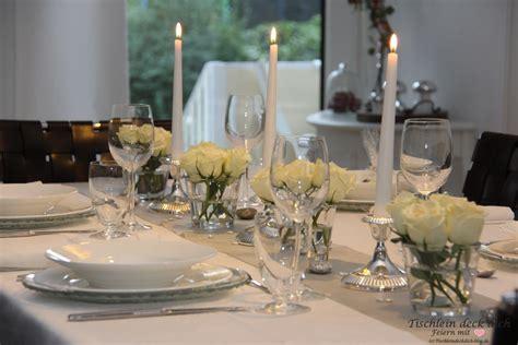 Tischdeko Silberhochzeit by Candle Light Dinner For Four Zur Silberhochzeit