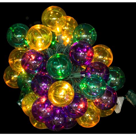 mardi gras globe lights 40 light 01189