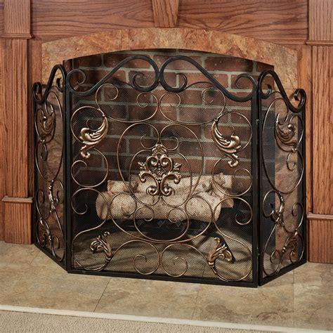 Fireplace Screens by Taleisin Scroll Metal Fireplace Screen