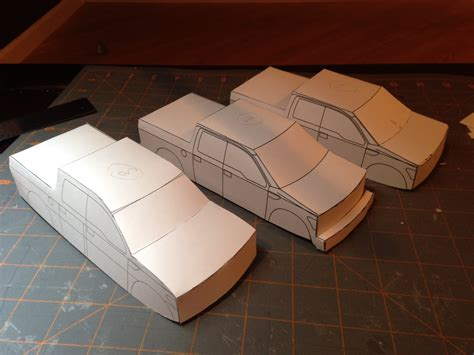 Paper Models To Make - ford raptor svt paper model work in progress
