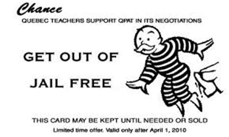 Get Out Of Free Card Monopoly Template by Student Response Systems At Sbu Not All Who Wander