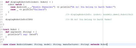 scala pattern matching java class scala crash course part 1 coding