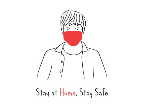 stay  home stay safe  tistio  dribbble