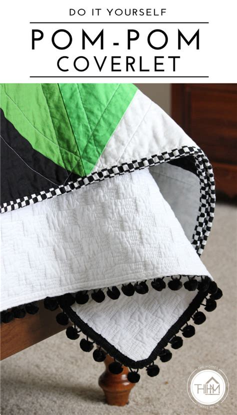 diy coverlet diy pom pom coverlet the homes i have made
