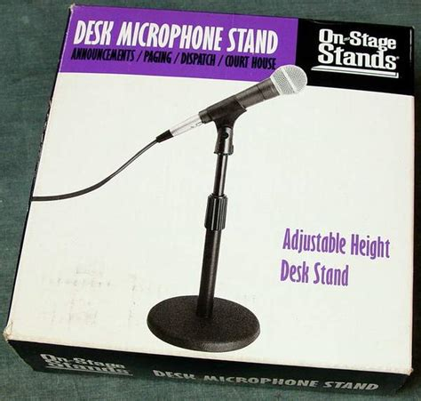 on stage ds7200b adjustable desk microphone stand black on stage ds7200b adjustable desk microphone stand black