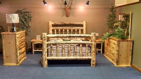 log cabin bedroom set handmade rustic log cabin bedroom collection by walnut