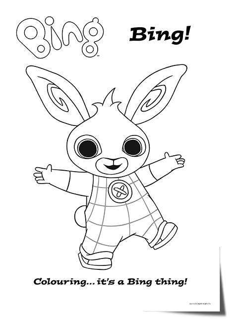 bing bunny colouring pages