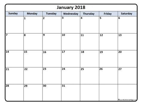 printable calendar 2018 january january 2018 calendar january 2018 calendar printable
