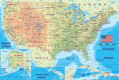 map america states and cities printable map of usa regional and cities new york city