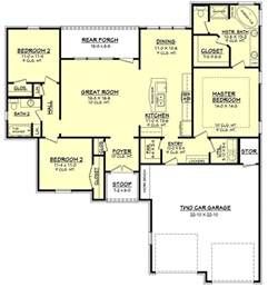 1600 Sq Ft Floor Plans by European Style House Plan 3 Beds 2 Baths 1600 Sq Ft Plan