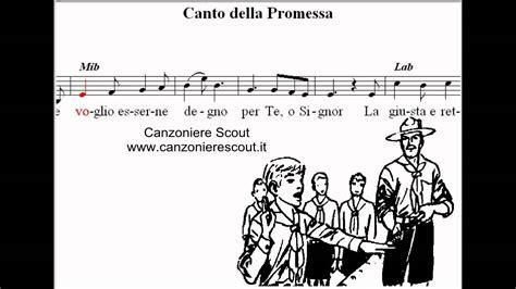 la promessa testo canto della promessa canto scout tradizionale da