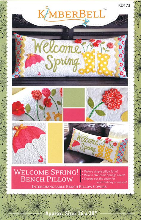 repository pattern spring welcome spring bench pillow pattern