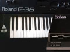 Keyboard Roland E36 audio discograpgy audio sessions new time