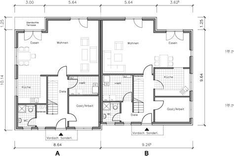 Grundriss Doppelhaus Ebenerdig by Doppelhaus 135 140