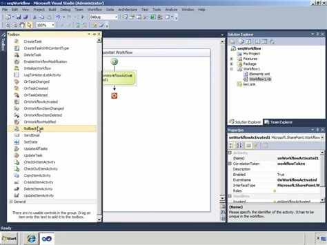 sequential workflow in sharepoint 2010 visual studio exles sharepoint creating sharepoint 2010 sequential workflows