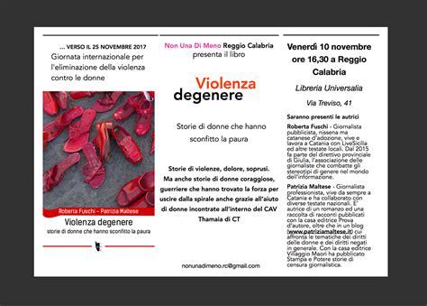 libreria scientifica reggio calabria libreria universalia nudm rc presenta il libro quot violenza