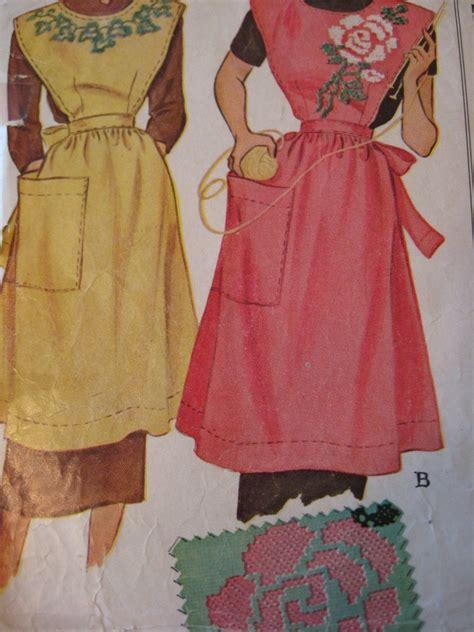 vintage mccalls pattern vintage mccalls apron pattern