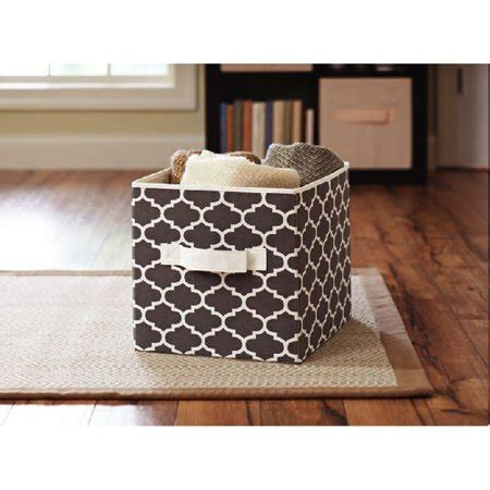 better homes storage cube better homes and gardens collapsible fabric storage cube grey lattice walmart