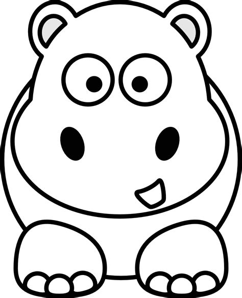 hungry hungry hippos coloring page black and white cartoon drawings cliparts co