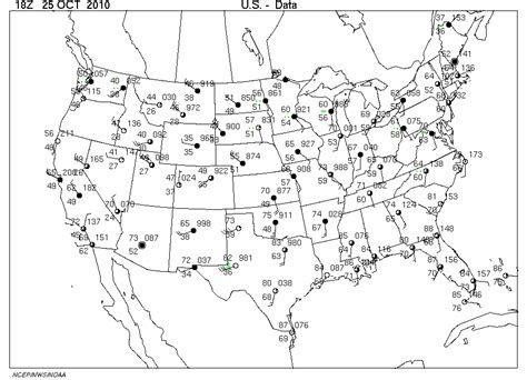 us weather map with station models surface map