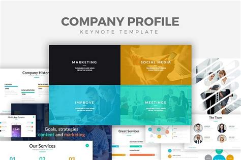 company profile layout software company profile keynote template presentation templates